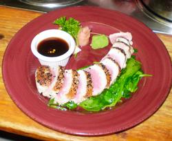 Longfellow's pan-seared tuna